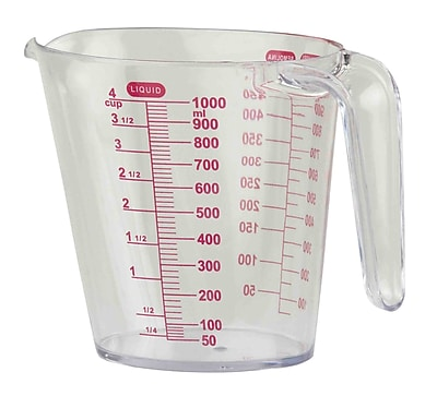 Home Basics 4-Cup Plastic Measuring Cup WYF078281177935