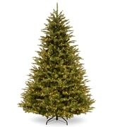 PowerConnect 90'' Green Fir Artificial Christmas Tree w/ 850 Clear/White Lights and Stand
