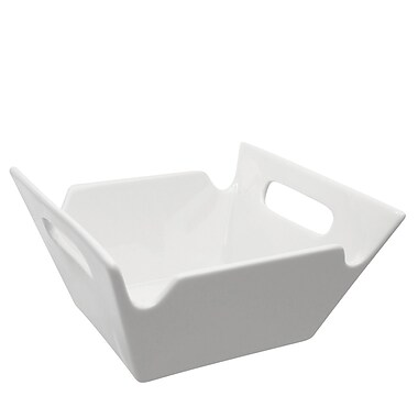 Latitude Run Allender White Square Porcelain Serving Bowl