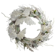 One Allium Way 37'' Crystal and Pine Wreath