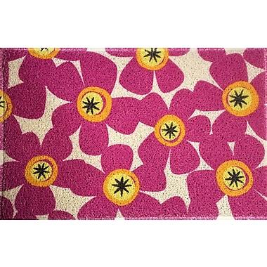 Latitude Run Amici Fuchsia Flowers Doormat