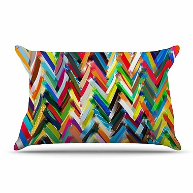 East Urban Home Frederic Levy-Hadida 'Chevrons' Rainbow Pillow Case