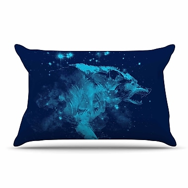East Urban Home Federic Levy-Hadida 'Predation Instinct Ii' Wolf Pillow Case