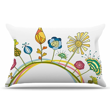 East Urban Home Alisa Drukman 'Flo' Floral Pillow Case