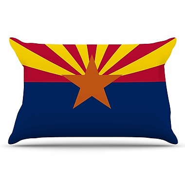 East Urban Home Bruce Stanfield 'Flag Of Arizona' Pillow Case