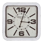 Gracie Oaks Oversized Hotel Wall Clock