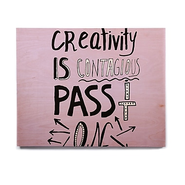 East Urban Home 'Creativity is Contagious' Textual Art on Wood