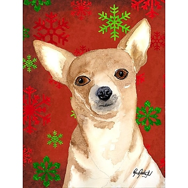 The Holiday Aisle Snowflakes Christmas House Vertical Flag; Chihuahua 6