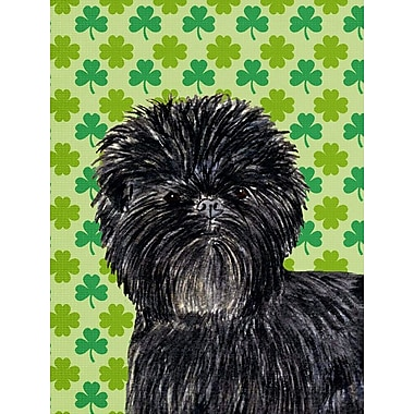 East Urban Home St. Patrick's Day Shamrock 2-Sided Garden Flag; Affenpinscher