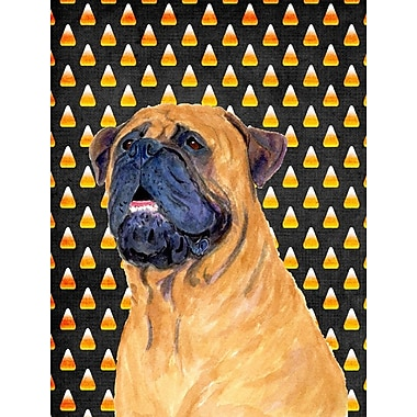 East Urban Home Candy Corn Halloween 2-Sided Garden Flag; Mastiff (Black and Brown)