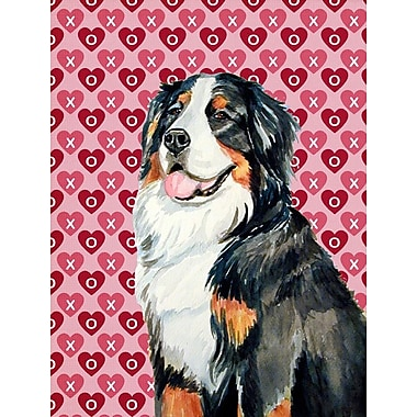 Caroline's Treasures Cooper Love and Hearts Boxer 2-Sided Garden Flag; Bernese Mountain Dog