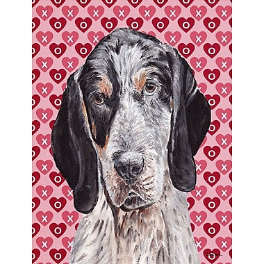 Caroline's Treasures Cooper Love and Hearts Boxer 2-Sided Garden Flag; Coonhound (Black and Gray)