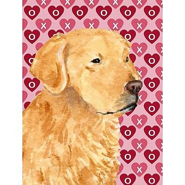 Caroline's Treasures Cooper Love and Hearts Boxer 2-Sided Garden Flag; Golden Retrieve