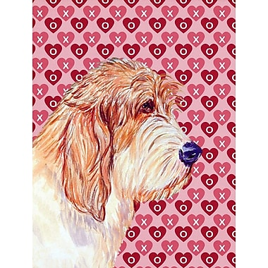 Caroline's Treasures Cooper Love and Hearts Boxer 2-Sided Garden Flag; Petit Basset Griffon Vendeen