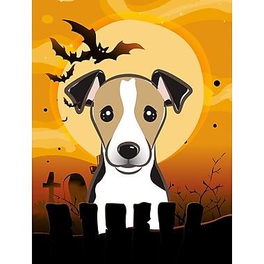 Caroline's Treasures Halloween 2-Sided Garden Flag; Labrador (Black)