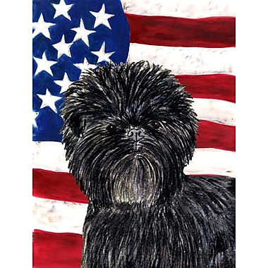 Caroline's Treasures USA American House Vertical Flag; Affenpinscher