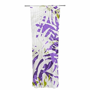 Mmartabc Leaves Vector Nature / Floral Sheer Rod Pocket Curtain Panels Panels (Set of 2)