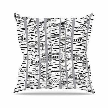East Urban Home Marta Olga Klara Birch Forest Outdoor Throw Pillow; 18'' H x 18'' W x 5'' D