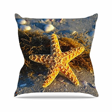 East Urban Home Philip Brown Starfish Outdoor Throw Pillow; 16'' H x 16'' W x 5'' D