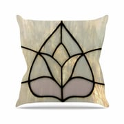 East Urban Home Philip Brown Tulip Stained Glass Floral Digital Outdoor Throw Pillow