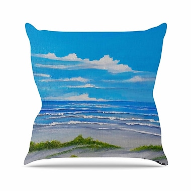 East Urban Home Rosie Brown Sanibel Island Coastal Painting Outdoor Throw Pillow