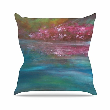East Urban Home Cyndi Steen Bougainvillea Reflections Outdoor Throw Pillow; 18'' H x 18'' W x 5'' D