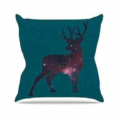 East Urban Home Alias Deer in the Starlight Outdoor Throw Pillow; 18'' H x 18'' W x 5'' D