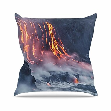 East Urban Home Lava Outdoor Throw Pillow; 16'' H x 16'' W x 5'' D