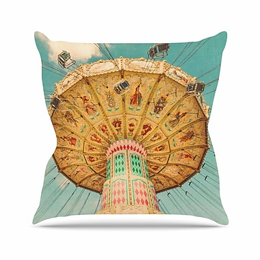 East Urban Home Suzanne Harford Jovial Outdoor Throw Pillow; 16'' H x 16'' W x 5'' D
