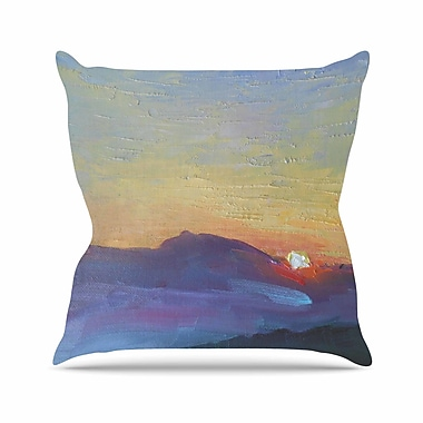 East Urban Home Carol Schiff Mountain Sunset Nature Outdoor Throw Pillow; 18'' H x 18'' W x 5'' D