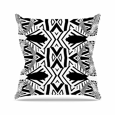 East Urban Home Pom Graphic Design Africa Outdoor Throw Pillow; 18'' H x 18'' W x 5'' D