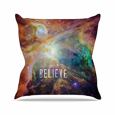 East Urban Home Bruce Stanfield Orion Nebula Believe Outdoor Throw Pillow; 18'' H x 18'' W x 5'' D