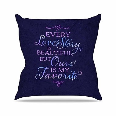East Urban Home Noonday Design Every Love Story Is Beautiful Outdoor Throw Pillow