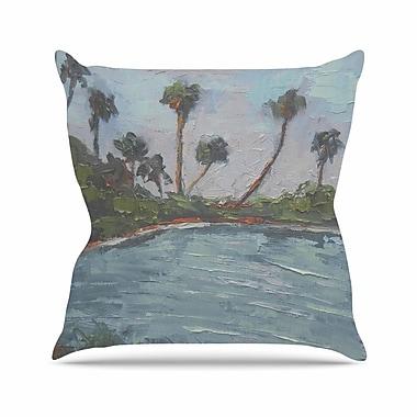 East Urban Home Carol Schiff Lagoon Outdoor Throw Pillow; 16'' H x 16'' W x 5'' D