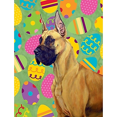 Caroline's Treasures Easter Eggtravaganza 2-Sided Garden Flag; Great Dane (Beige and Black)