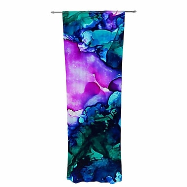 East Urban Home Claire Day Nebula Abstract Sheer Rod Pocket Curtain Panels Panels (Set of 2)