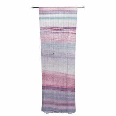 East Urban Home Mmartabc Painting Lines Abstract Sheer Rod Pocket Curtain Panels Panels (Set of 2)