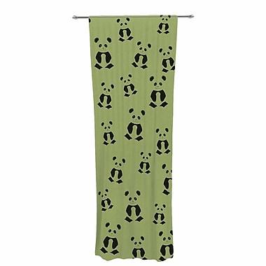 Cristina Bianco Panda Pattern Wildlife Sheer Rod Pocket Curtain Panels Panels (Set of 2)