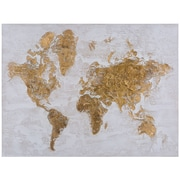 Ivy Bronx 'Map in Gold' Print on Canvas