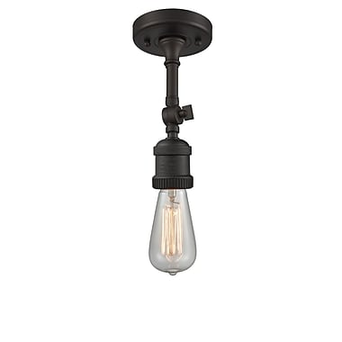 Innovations Lighting Bare Bulb 1-Light LED Semi Flush Mount; Oil Rubbed Bronze