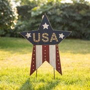 Loon Peak Patriotic ''USA'' Star Garden Stake