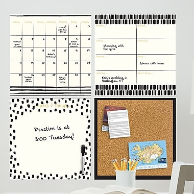 WallPops! Luxe Organizer Kit Whiteboard Wall Decal