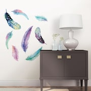 WallPops! Wall Art Kit Celestial Feathers Wall Decal