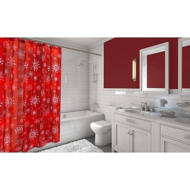The Holiday Aisle Holiday Snow Resin Shower Curtain Set