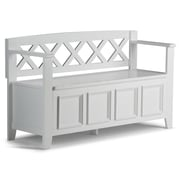 Darby Home Co Otterville Wood Storage Entryway Bench; White