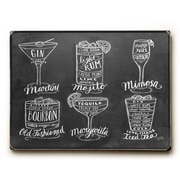 Winston Porter 'Cocktails' Rectangle Textual Art on Wood