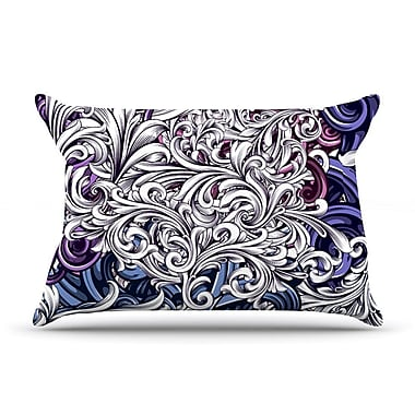 East Urban Home Nick Atkinson 'Celtic Floral I' Abstract Pillow Case