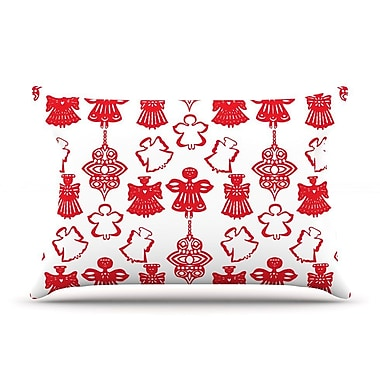 East Urban Home Miranda Mol 'Angels Singing' Holiday Pillow Case