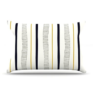 East Urban Home Laurie Baars 'Textured Stripes' Abstract Lines Pillow Case