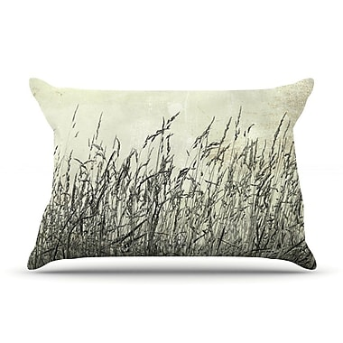 East Urban Home Iris Lehnhardt 'Summer Grasses' Neutral Pillow Case